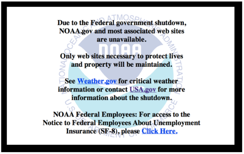 A message from NOAA